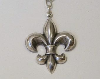 Sterling Silver Plated Fleur De Lis Choker