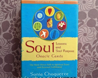 Soul Lessons & Soul Purpose Oracle Cards, deck, book and box FREE SHIPPING