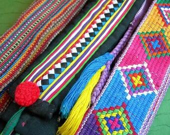 Vintage Woven Sash Belts lot of 3