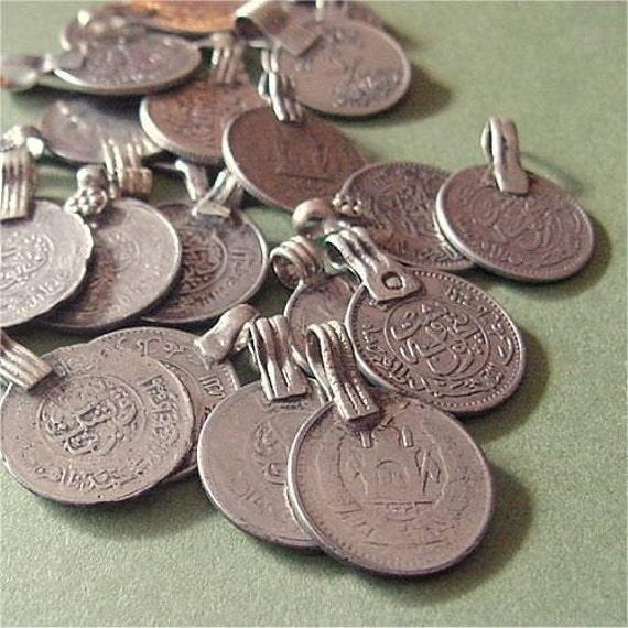 Vintage silver coin charms afghan kuchi pendants mixed lot of etsy image 0 aloadofball Gallery