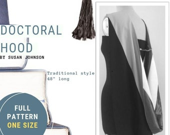 PHD Doctoral Hood Pattern & Tutorial from UnSewlicited