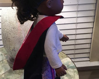 PHD Doctoral Hood Pattern (1/4 Scale- Fits American Girl Doll)