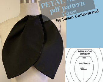 Petal Ascot PDF Pattern (3 Sizes Included) by Susan UnSewlicited