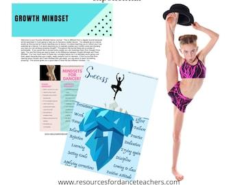 Growth Mindset Dancer Journal, goal setting, help your dancer succeed with Success Mindset PDF, download