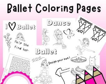 Dance Coloring - Dance Activities - Dance Coloring Printable - Dance Coloring pages - Dancing Coloring - Ballet coloring