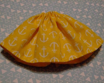 Blythe / DAL Skirt - Anchors Away On Yellow