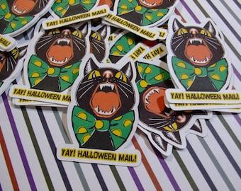 Sugar Blocks Sticker Flakes - Spooky Cat Halloween Mail