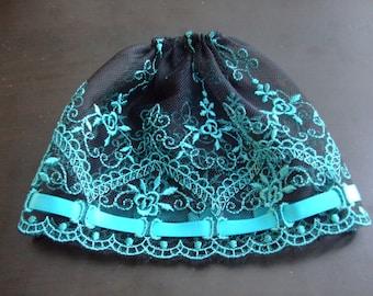 Blythe / DAL Skirt - Vintage Floral Lace - Chloe's Secret Garden
