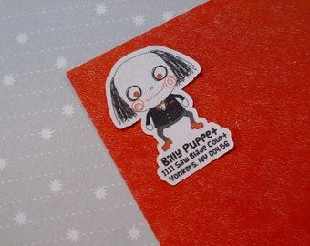 Custom Address Labels - Horror Cutie Billy The Puppet {Set Of 25}
