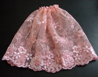 Blythe / DAL Skirt - Vintage Floral Lace - Patty's Secret Garden - LAST ONE