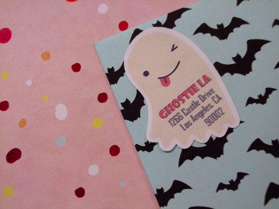 30 Custom Ghost Art Personalized Address Labels