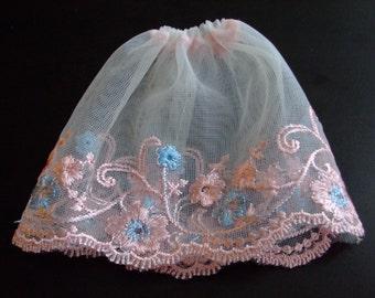 Blythe / DAL Skirt - Vintage Floral Lace - Bella's Secret Garden