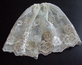 Blythe / DAL Skirt - Vintage Floral Lace - Lydia's Secret Garden