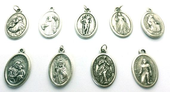 Best Birthday Gift Sterling Silver Antiqued Saint George Medal