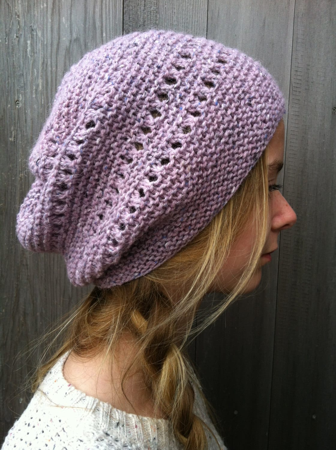 Knitting PATTERN Slouchy Hat Hipster Hat Slouchy Hat   Etsy