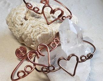 Heart Bangle Aluminum Bracelet