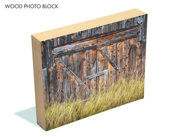"""Barn Doors"" - wood photo block"