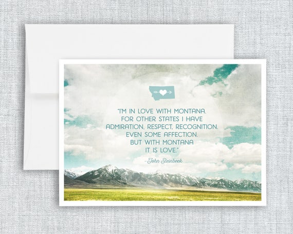 In Love with Montana - greeting card
