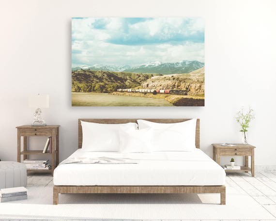 """""""Along the Yellowstone"""" - photo on canvas"""