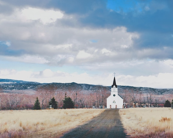"""Little Church on the Prairie"" - landscape photography"