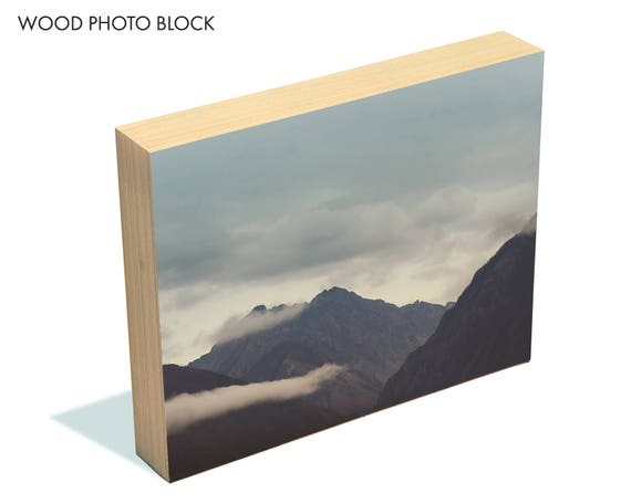 """Ancient Valleys"" - wood photo block"