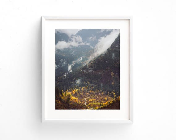 """Glacier Valley Fall"" - landscape photography"