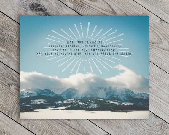 Edward Abbey Quote Print - STUDIO SALE!
