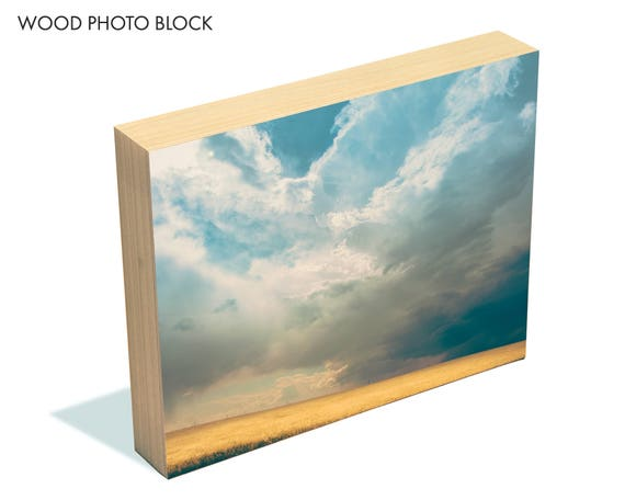 """A Light in the Storm"" - wood photo block"