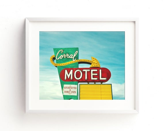 """The Corral Motel"" - fine art photography"