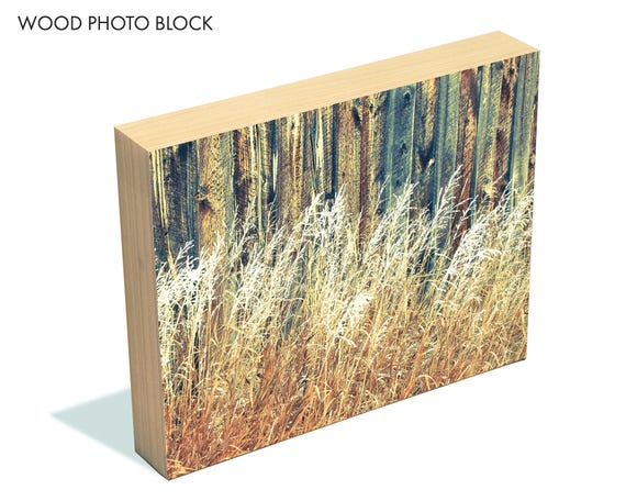 """Against the Grain"" - wood photo block"