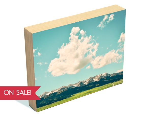Wild Blue Yonder - mountain landscape wall art