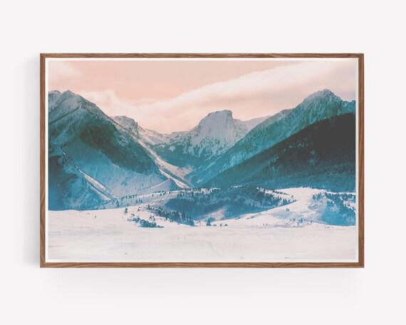 """Snowy Mountain Morning"""