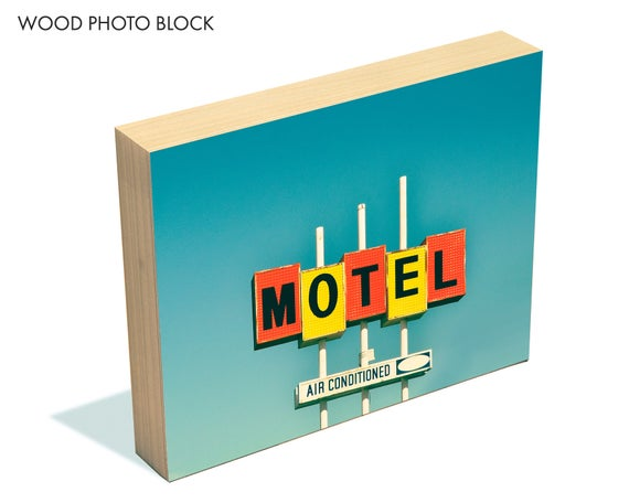 """""""Air Conditioned"""" - wood photo block"""
