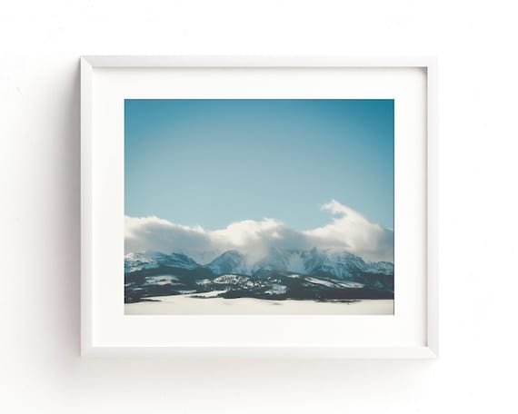 """Bridger Mountain Cloud Cover"" - landscape photography"