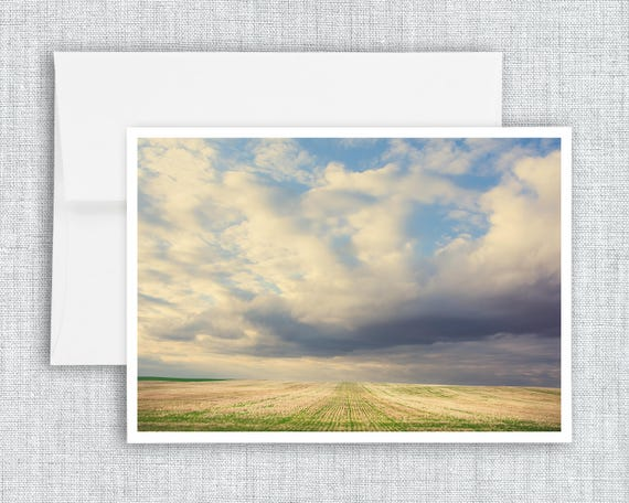 Across the Fields - greeting card