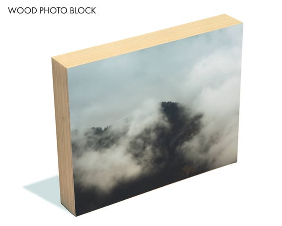 """All at Once"" - wood photo block"