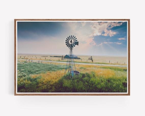 """Windmill Sunset"""