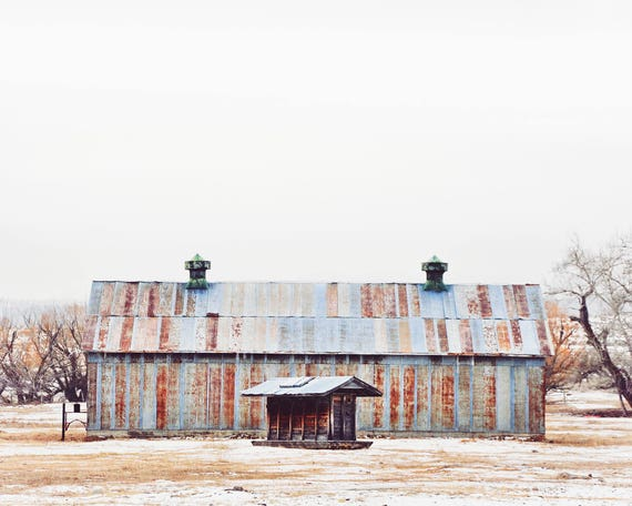 """Sheep Barn"" - landscape wall art"