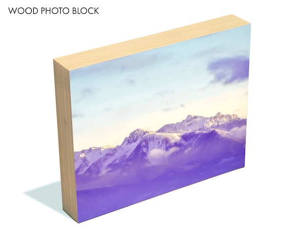 """12 Below"" - wood photo block"