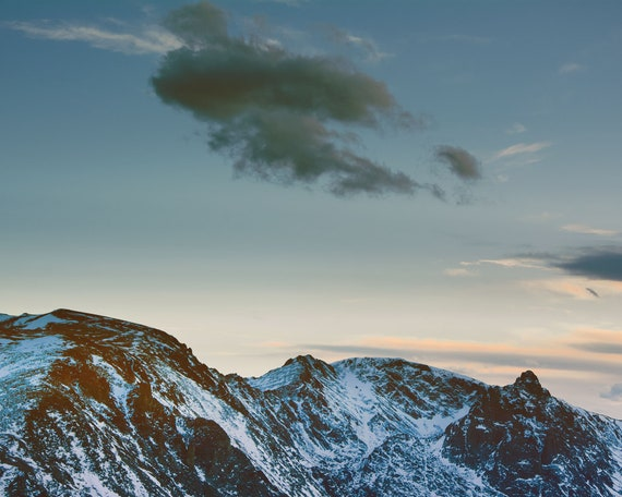 """Rocky Mountain Twilight"" - landscape wall art"