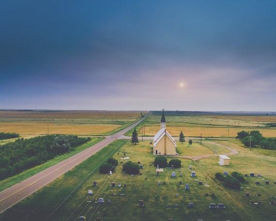 """""""Crossroads Church"""" - landscape print"""