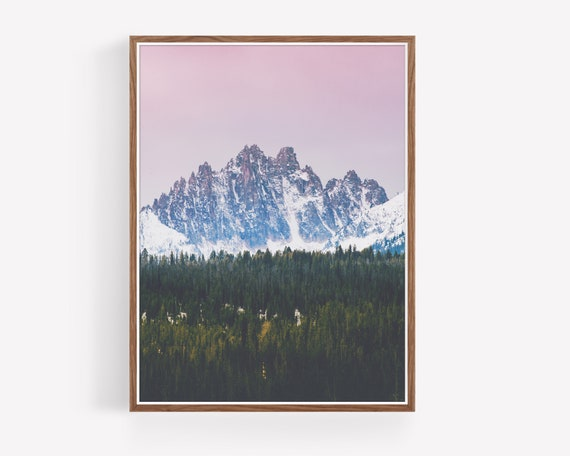 """Sawtooth Mountains Sunrise"""