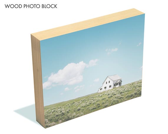 """A Simple Life"" - wood photo block"