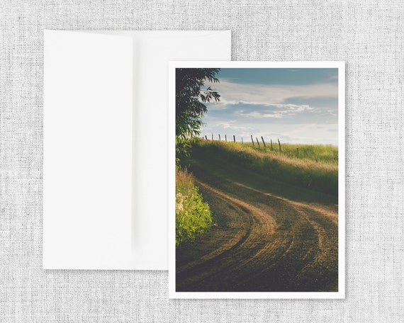 """Country Curve"" - greeting card"