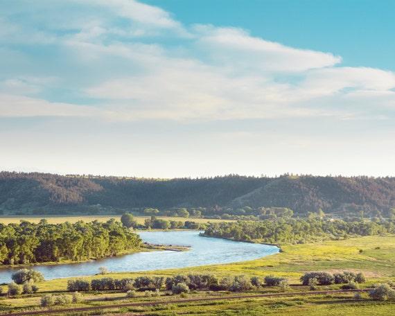 "landscape, landscape print, photography, modern, contemporary, art print, fine art prints, nature, wall art, sky, art - ""Yellowstone Valley"""