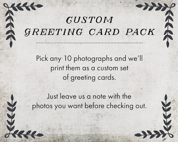 Custom Greeting Card Set - choose your photos