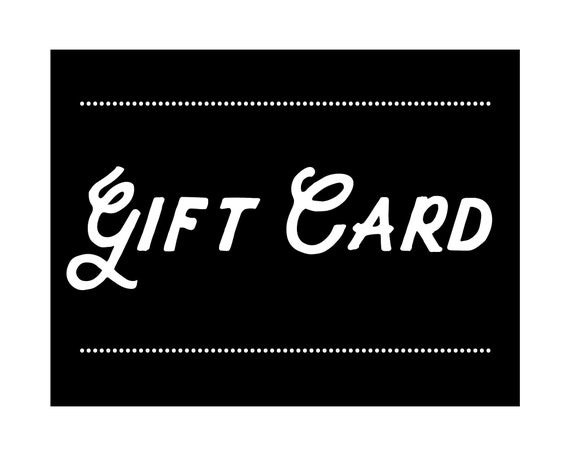 Gift Card - you choose the amount, custom gift card