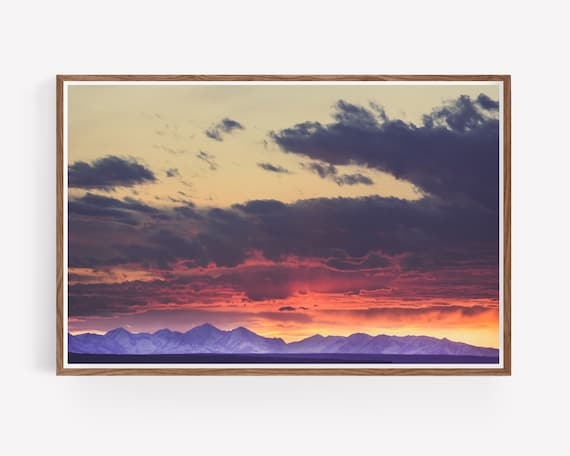 """Crazy Mountain Sunset"""