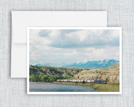 Along the Yellowstone - greeting card