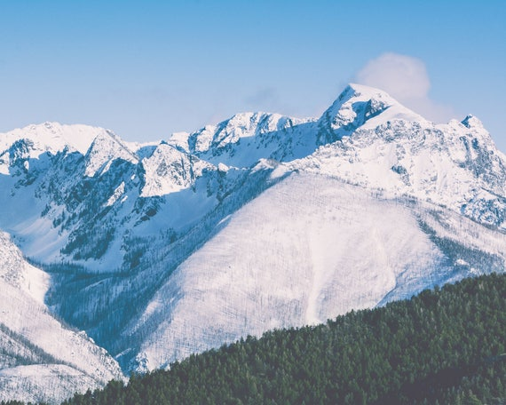 """Snow Covered Peaks"" - landscape photography"